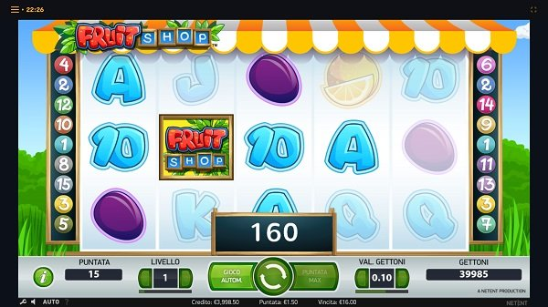 Fruit Shop Slot Machine in the Sloty Casino