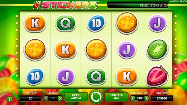 Stickers Slot Machine | NetEnt