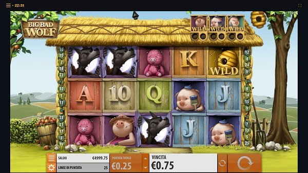 Italian Version of the Big Bad Wolf Slot